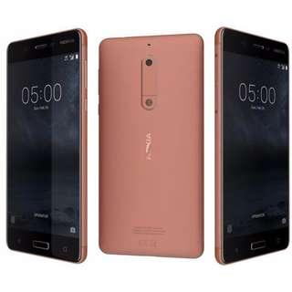 $30/2張 Nokia 5 (TA-1053)高清防指紋9H 強化玻璃保護貼0.26mm 麗康墨盒