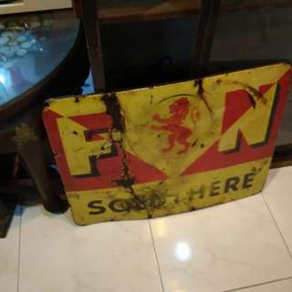 F&N enamel sign A