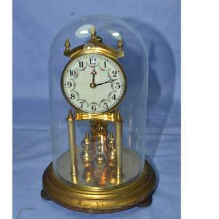 ANTIQUE VINTAGE KUNDO GERMANY MECHANICAL WIND UP ANNIVERSARY CLOCK