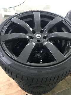 Stock Gtr rims come with Pzero new tyres