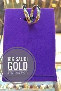 18k Saudi Gold wedding ring pair 3g