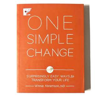 ONE SIMPLE CHANGE Book