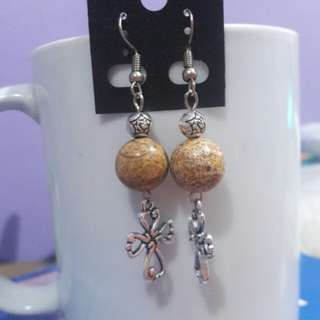 Picture Jasper and Cross earrings