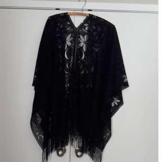 Black Lace Kimono