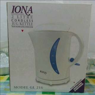 Clearance Sale $22!! Iona 2 Litre Cordless Jug Kettle (Pre-owner)