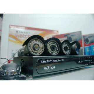 CCTV 4CH HD Camera Package with 720p Resolution and Night Vision Capable