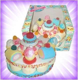 Marshmallow Birthday Cake (Blue)