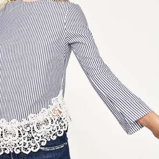 Zara Lace Embroided Blouse (Authentic)