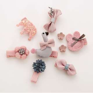 Korean style hair clip and pins for baby and kids in a box