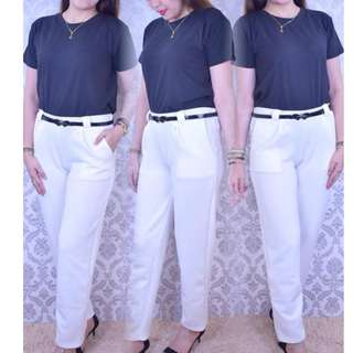 CASUAL TERNO TOP AND WHITE PANTS