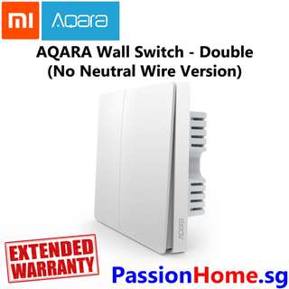 Aqara Wall Switch - Double (No Neutral Wire Required) (Passion Home)