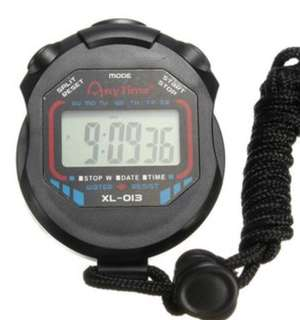 Waterproof Digital Chronograph Timer Stopwatch Counter Sports Watch