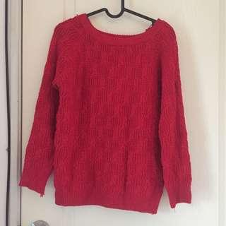 喜氣洋洋🌶大紅色針織毛衣❤️