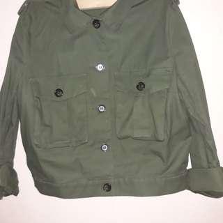 Preloved Olive army style jacket