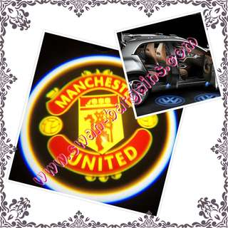 2pcs Manchester United Man U Logo Magnetic Universal Wireless Car Door Ghost Shadow Courtesy Greetings Projector LED Light
