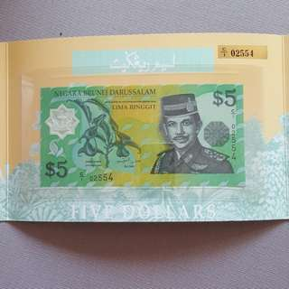 Brunei first issue note 1996. C1 02554.