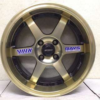 15 inch SPORT RIM VOLK RACING TE37 GOLD RAYS WHEELS