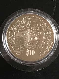 Year of Cow $10 Coin
