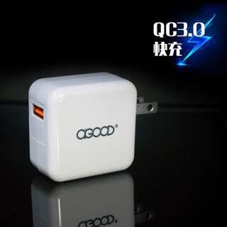 🚚 QC3.0USB超高速單孔電源充電器 快充旅充