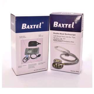 Baxtel  Aneroid Spyghmomanometer with Double-head Stethoscope (gray)