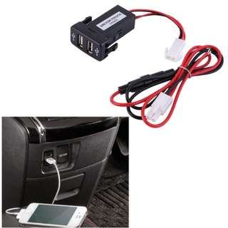 Car 2.1A Dual USB Port Charger for HONDA/MITSUBISHI/FORD RANGER/DMAX
