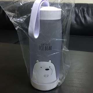 Miniso We Bare Bears Ice Bear Water Bottle