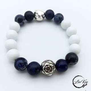 黑瑪瑙手鏈 Black Onyx bracelet B002