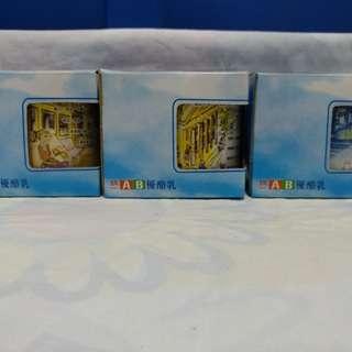 絕版全新泰國製統一 AB 優酪乳水杯一套 3 件