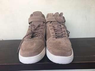 High-Cut Brown Suede Sneakers