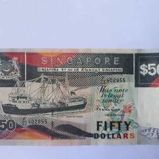 Singapore Currency $50 Dollar