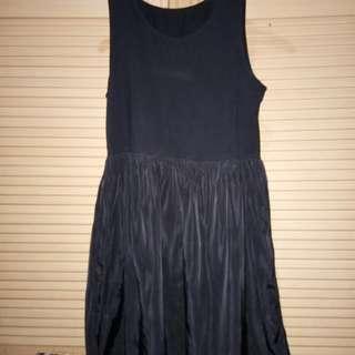 Black dress (satin skirt)