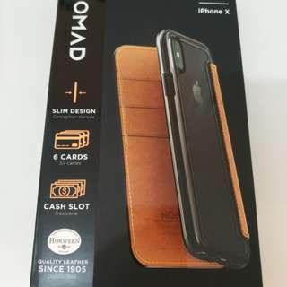 Nomad Iphonex真皮電話套 phone case