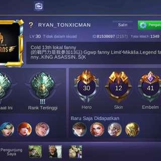 Akun mobile legend murah