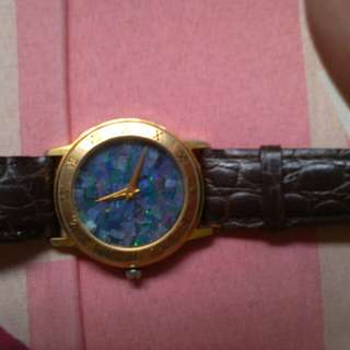 Bugatti quartz watch opal vintage