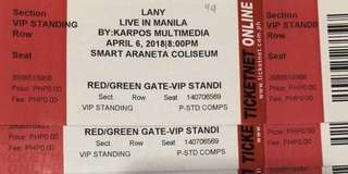 LANY VIP DAY 2 (physical tickets)