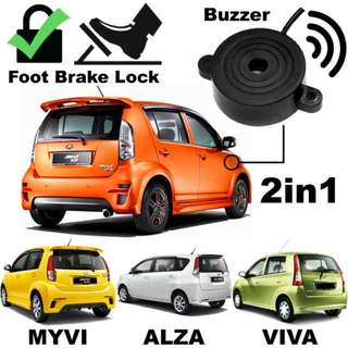 2 in 1 brake lock W/ buzzer for perodua myvi/viva/alza