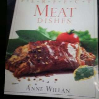 Meat dishes cooking book