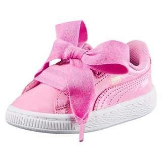 二手!! PUMA BASKET HEART 蝴蝶結鞋.童鞋.運動鞋.板鞋  粉 17.5cm UK11