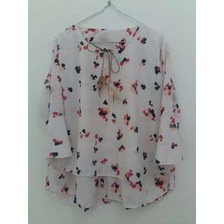 Abstract White Blouse