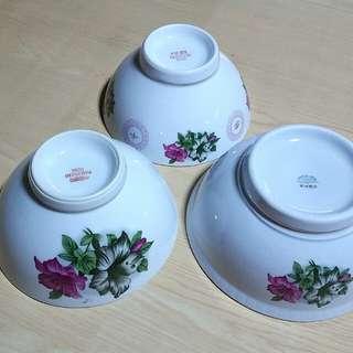 Rare Vintage Kangkong Big Bowl x 3pcs