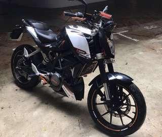 KTM Duke 200 ABS - COE until June 2022