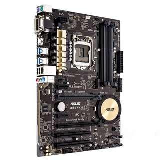 (二手) 90%NEW ASUS Z97-K R2.0, Socket 1150, ATX主機板
