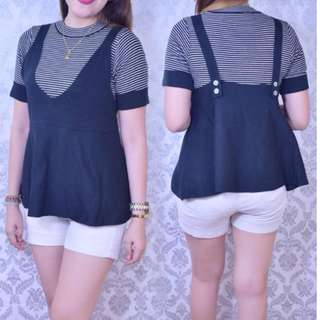 2 IN 1 KNITTED BLOUSE