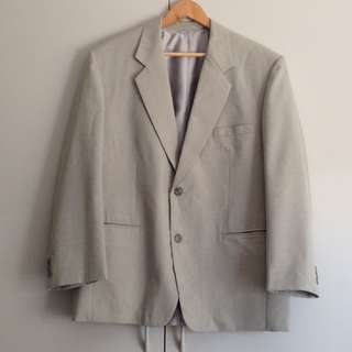 Mid 90's Tailored Jacket in Grey (Vintage)