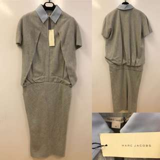 長身裙 New Marc Jacobs light gray with light blue dress size 4