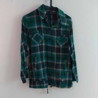 Green Flanel Shirt