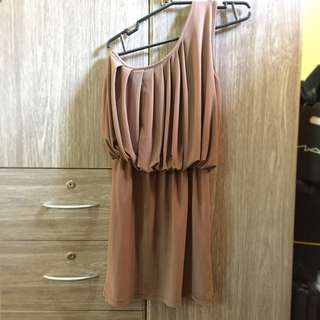Sale!! Cocktail Dress Elegant brown