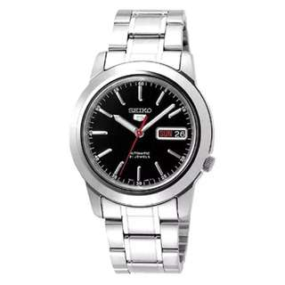 Preorder Seiko 5 Automatic Men's Silver Stainless Steel Strap Watch SNKE53K1
