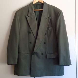 Mid 90's Tailored Jacket in Forest Green (Vintage)