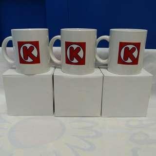 絕版全新 OK 便利店 CIRCLE K 經典品牌水杯一套 3 隻